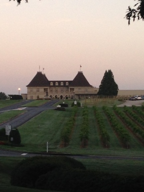 The Chateau during my dawn walk.